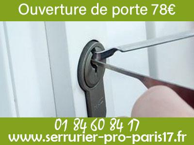 Ouverture de porte Paris 17