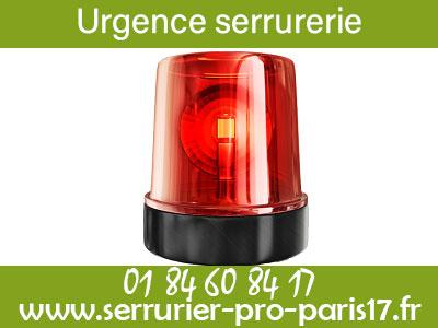 Urgence serrurier Paris 17